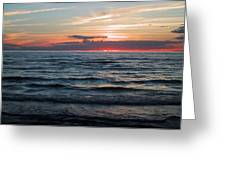 Sauble Beach Sunset Greeting Card by Merv Scoble