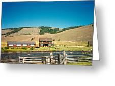 Sawtooth Mountains Campsite Greeting Card by Douglas Barnett