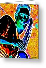 Sax Greeting Card by Stephen Younts