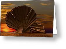 Scallop Sunrise At Aldeburgh Greeting Card by Darren Burroughs