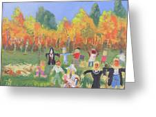 Scarecrow Contest Greeting Card by Robert P Hedden