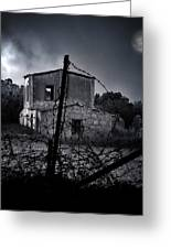 Scary House Greeting Card by Stylianos Kleanthous