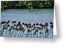 Scatter Roses On My Grave Greeting Card by Steven Ainsworth
