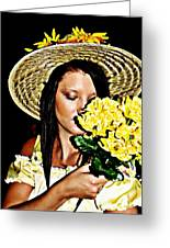 Scent Of Summer Greeting Card by Cindy Nunn