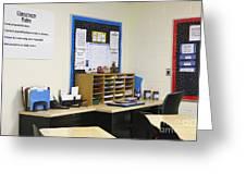 School Teachers Desk Greeting Card by Skip Nall