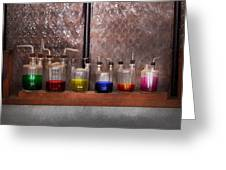 Science - Chemist - Glassware For Couples Greeting Card by Mike Savad