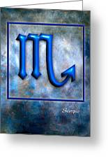 Scorpio Greeting Card by Mauro Celotti