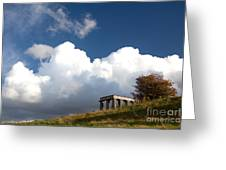 Scottish National Monument On Calton Hill Greeting Card by Steven Gray