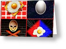 Scrambled Eggs Greeting Card by Cristophers Dream Artistry