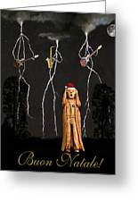 Scream Buon Natale Greeting Card by Eric Kempson