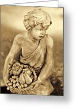 Sculpture In Sepia Greeting Card by Linda Phelps