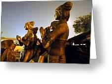 Sculpture Of Women Greeting Card by Sumit Mehndiratta