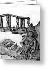 Sculptures And Monuments Greeting Card by Shashi Kumar