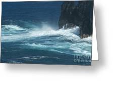 Sea - Mer - Ile De La Reunion Greeting Card by Francoise Leandre