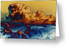Sea And Sky Greeting Card by One Rude Dawg Orcutt