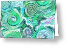 Sea Foam Greeting Card by Paintings by Gretzky