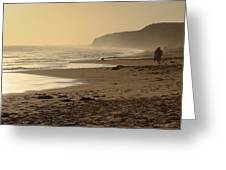 Sea In Sepia Greeting Card by Heidi Smith