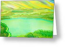 Sea Of Grass Waves Of Mustard Greeting Card by Jill Targer