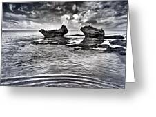 Sea Ripples Greeting Card by Stylianos Kleanthous