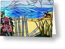 Sea Roses - Rosa Rugosa Greeting Card by Jane Croteau