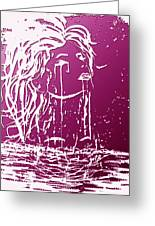 Sea Spirit  Greeting Card by Costinel Floricel