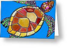 Sea Turtle Greeting Card by Patti Schermerhorn
