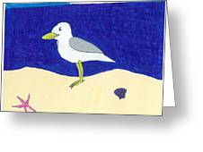 Seagull Greeting Card by Jayson Halberstadt