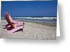 Seas The Chair Greeting Card by Betsy C  Knapp