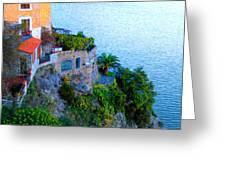 Seaside Villa Amalfi Greeting Card by Bill Cannon
