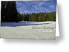 Season's Greetings Austria Europe Greeting Card by Sabine Jacobs