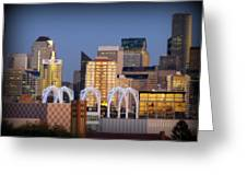 Seattle Air Greeting Card by Benjamin Thompson