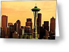 Seattle Skyline Greeting Card by Vicki Jauron