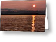 Seattle Sunset Greeting Card by Kristin Elmquist