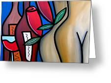 Secret - Nude Wine Art By Fidostudio Greeting Card by Tom Fedro - Fidostudio