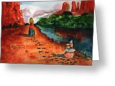 Sedona Arizona Spiritual Vortex Zen Encounter Greeting Card by Sharon Mick