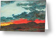 Sedona Sunset Greeting Card by Sandy Tracey