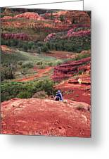 Sedona Vortex Greeting Card by Ric Soulen