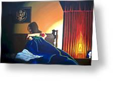 Seduced Greeting Card by Hershel Kysar