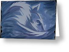 Seduction In Blue Greeting Card by Mark Schutter