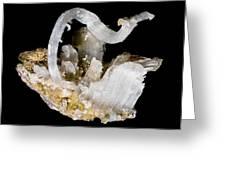 Selenite Crystals Greeting Card by Dirk Wiersma