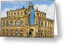 Semper Opera House Dresden Greeting Card by Christine Till