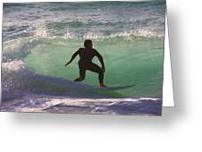 Sennen Cove Surf Greeting Card by Ed Lukas