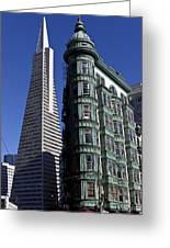 Sentinel Building San Francisco Greeting Card by Garry Gay