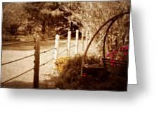 Sepia Garden Greeting Card by Julie Hamilton