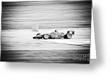 Sepia Racing Greeting Card by Darcy Michaelchuk