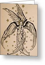 Seraphim Greeting Card by Jackie Rock