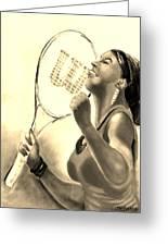 Serena In Sepia Greeting Card by Carol Allen Anfinsen
