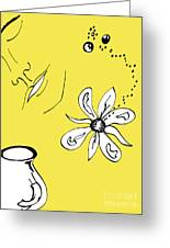 Serenity In Yellow Greeting Card by Mary Mikawoz