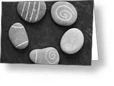 Serenity Stones Greeting Card by Linda Woods