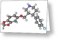 Seroxat Antidepressant Drug Molecule Greeting Card by Laguna Design